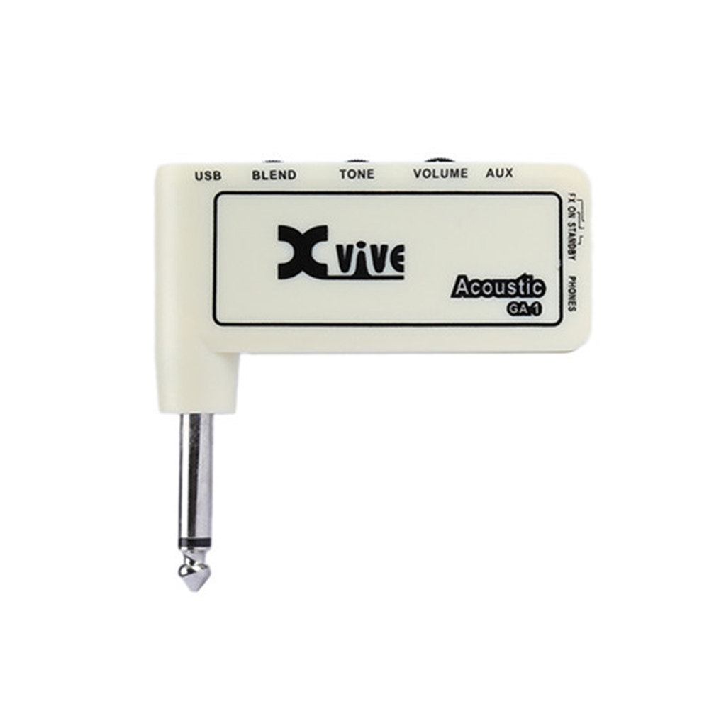 Lightweight Headphone Amp Xvive GA-1 Acoustic Guitar Micro Amp Gain Tone Volume Controls Portable Electric Guitar Amplifier mini micro battery powered portable guitar amp classic marshall guitar portable and lightweight