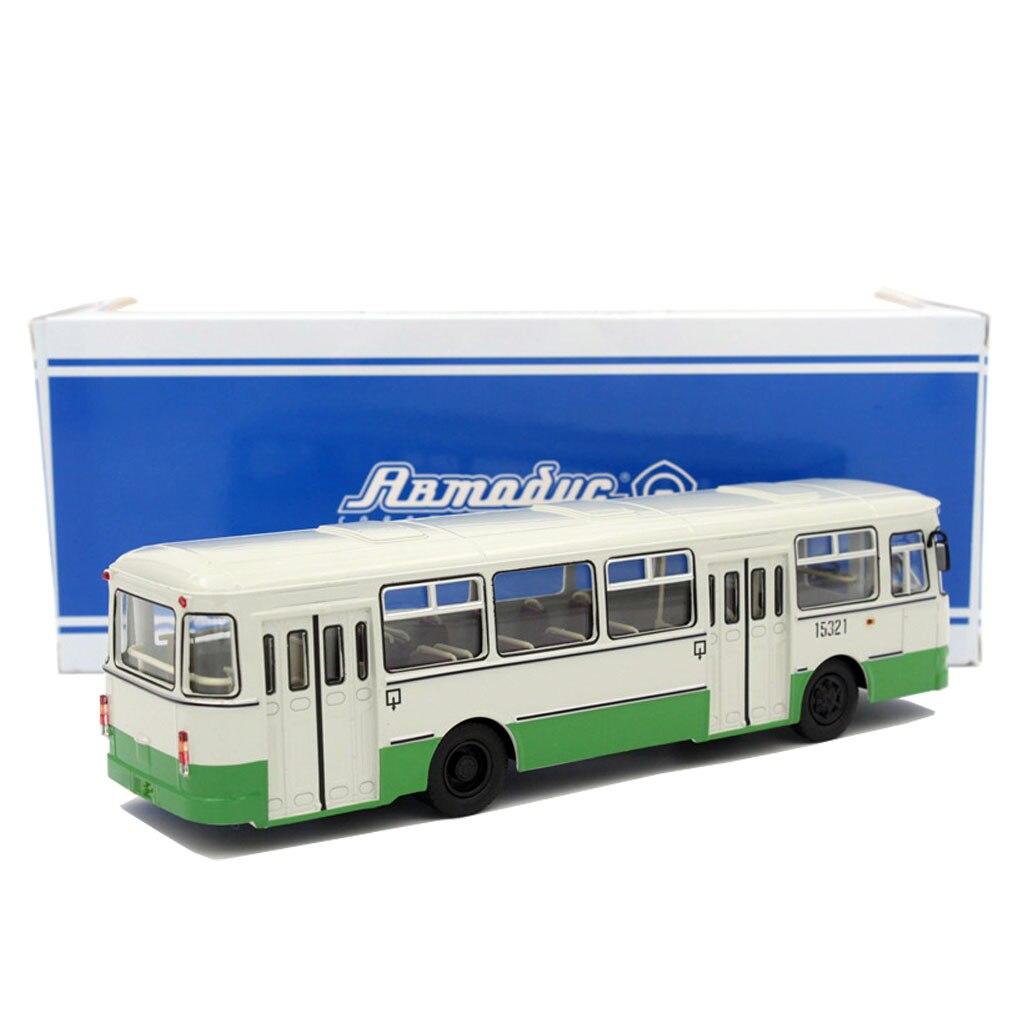 1/43 Russian Bus Liaz-677M Sovetskii Avtobus 15321 Diecast Toy Cars Models 1 38 china gold dragon bus models xml6122 diecast bus model gold