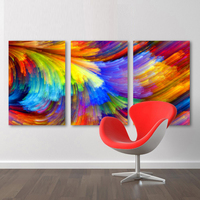 3 Piece Home Decoration Modern Canvas Wall Art The Pattern Of The Color II Oil Painting