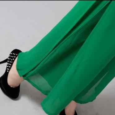 Высокое качество Твердые шифон двухслойная длинные штаны Для женщин танец брюки Cross брюки плюс Размеры 5XL ПР Повседневное широкие брюки RQ149