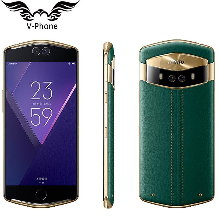 Meitu селфи Красота Meitu V6 4G LTE 6 ГБ Оперативная память 128 ГБ Встроенная память MT6799 Дека Core 5,5 двойной передний и задний Камера оригинальный Android м