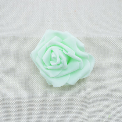 High Quality 30pcs/lot 6.5cm Foam Rose Heads Artificial Flower Heads Mint Green Tiffany Blue Flowers Wedding Decoration