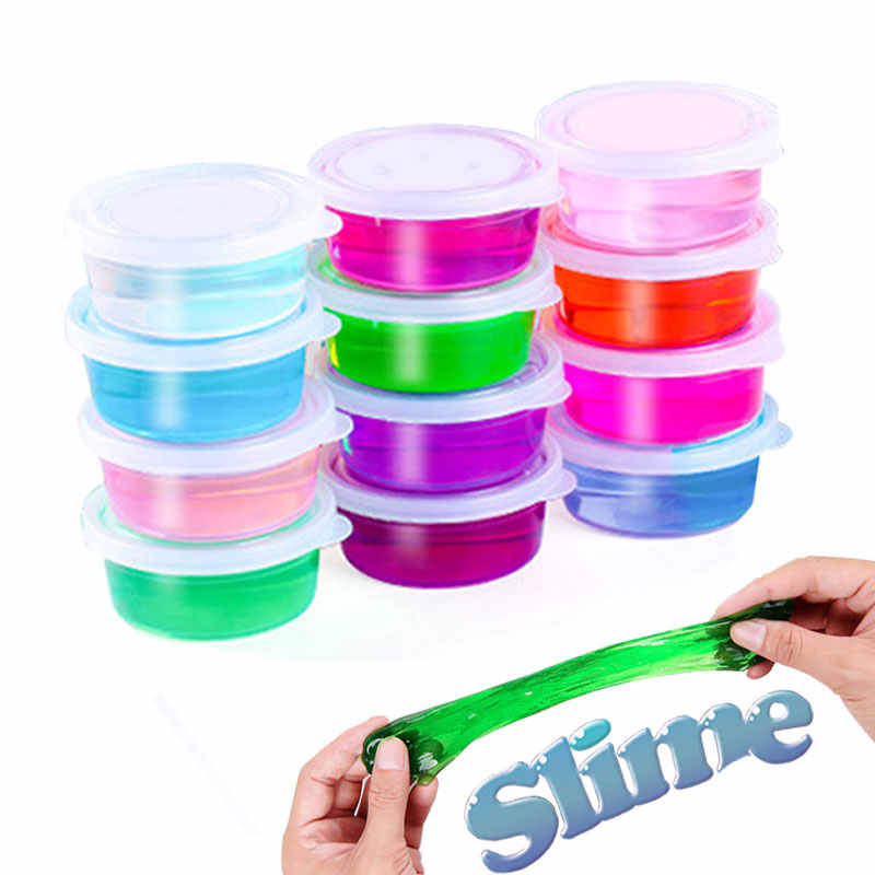Slide Clear Slime Toys Cloud Putty Fluffy Slime Glue Mud Charms for Slime Supplies Box Magic Plastilina Sand Clay for Kids