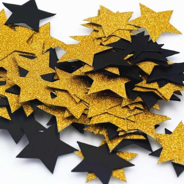 Us 20 20 Offschwarz Gold Konfetti Glitter Papier Punkte Konfetti Kreise Für Weihnachten Hochzeit Tisch Und Party Dekoration In Banner