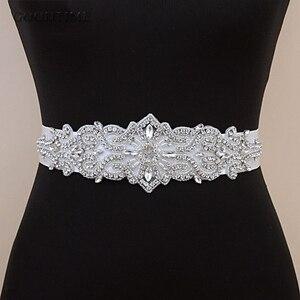 Image 5 - Thời trang Cưới Pha Lê Thắt Lưng Sash Cô Dâu Dây Thắt Lưng Thắt Lưng Cô Dâu Đai Với Thạch Wedding Phụ Kiện cho Phụ Nữ Ăn Mặc