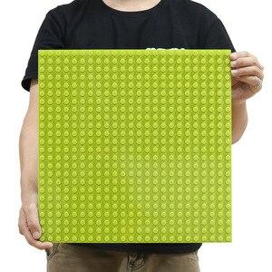 512 Duploes Große Ziegel Basis Platte 16*32 Punkte 51*25,5 cm Grundplatte Große Größe Bausteine Boden spielzeug DIY Kompatibel Grün Bord