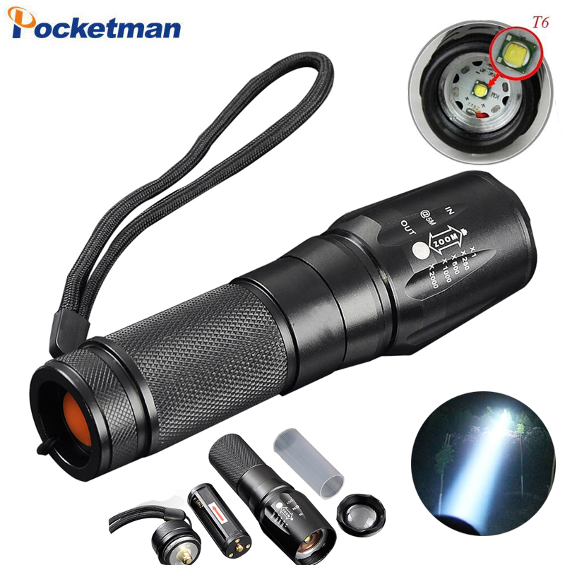 cree t6 3800 lumens led flashlight zoomable toche lampe lanterna torch linternas led by 18650. Black Bedroom Furniture Sets. Home Design Ideas