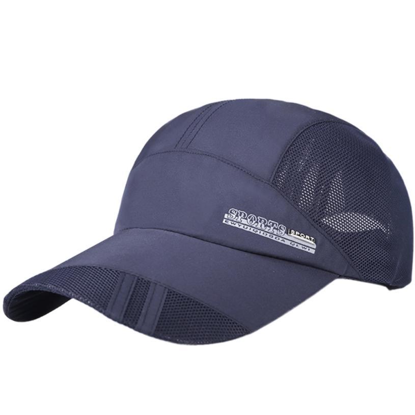 0f791dcb25788 Dropwow Mesh Hat Quick-Dry Collapsible Sun Hat Outdoor Sunscreen Baseball  Cap Men or Women Sport casquette bone aba reta tennis caps hat