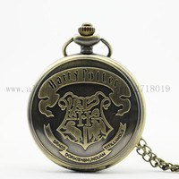 The Series Movie Harry Potter Hogwarts Magic School Memorial Retro HOT Pocket Watch Necklace Pendant Best