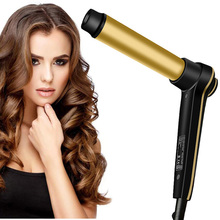 Hair Curling Iron with Even Heat V1 24K Gold Plated Long-lasting Curls & Digital Accuracy Temperature Display Hair Curler Wand