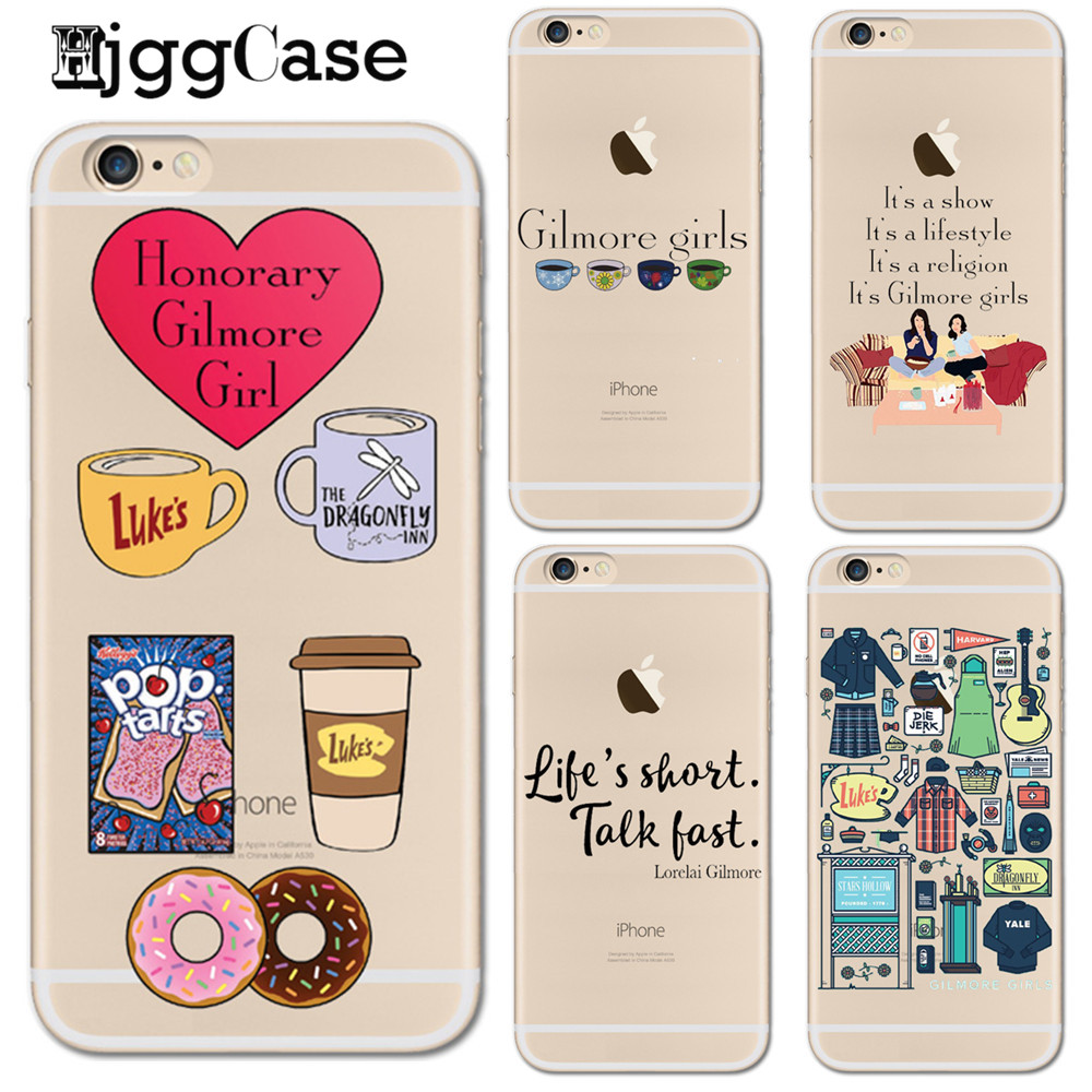 Gilmore <font><b>Girls</b></font> Life's Short Talk Fast Phone Case <font><b>for</b></font> <font><b>iphone</b></font> <font><b>6</b></font> 6S Silicone TPU Back <font><b>Cover</b></font> <font><b>for</b></font> <font><b>iphone</b></font> 8 7 <font><b>6</b></font> 6s Plus 5 5S SE X Coque image