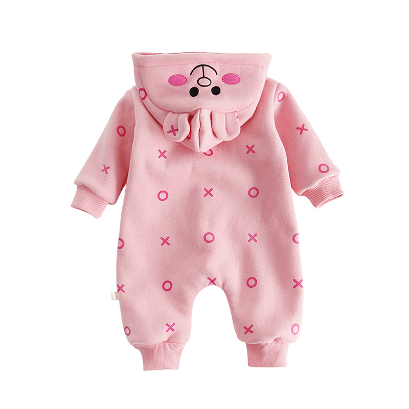 d3bb9e866 Buy Autumn Winter Baby Rompers Long Sleeves Plus Velvet Warm Thicker ...