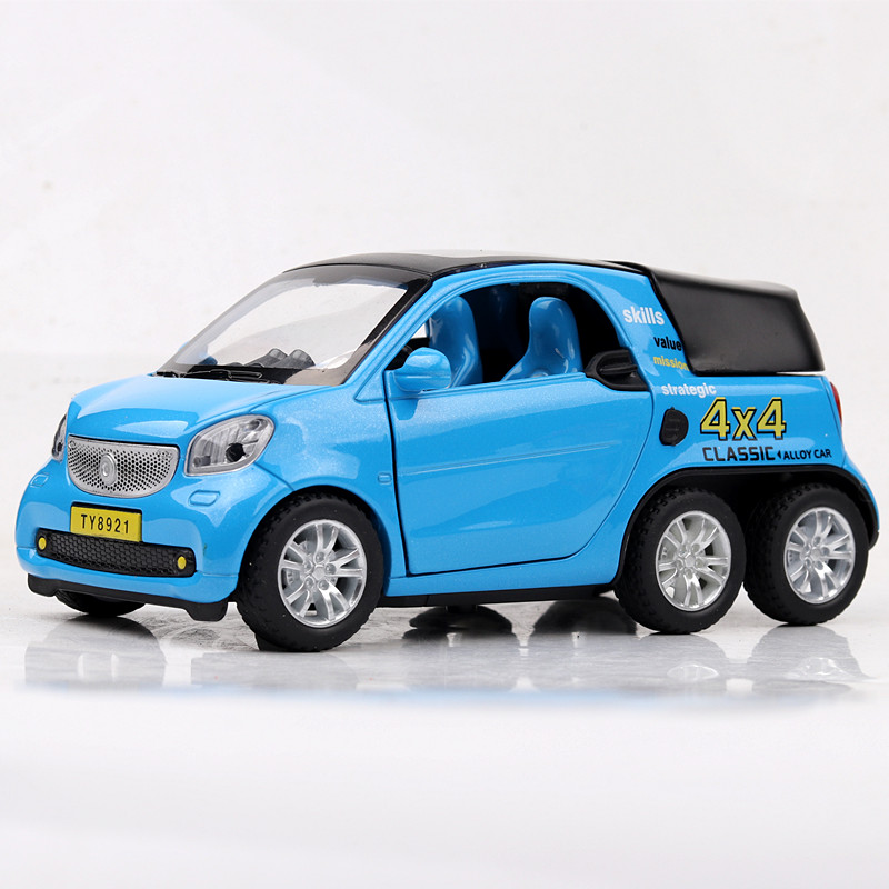 1 32 Scale Pickup Truck Model Mini Smart Pull Back Alloy Car Acousto Optic Simulation Vehicles Boy Cast Metal Auto Toys In Casts Toy From