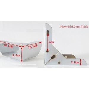 Image 2 - 4 stks/partij 110*110 * H55mm Meubels Bad Koffie Bar Sofa Stoel Been Voeten Met Schroeven, chrome/Rvs Voor Optie