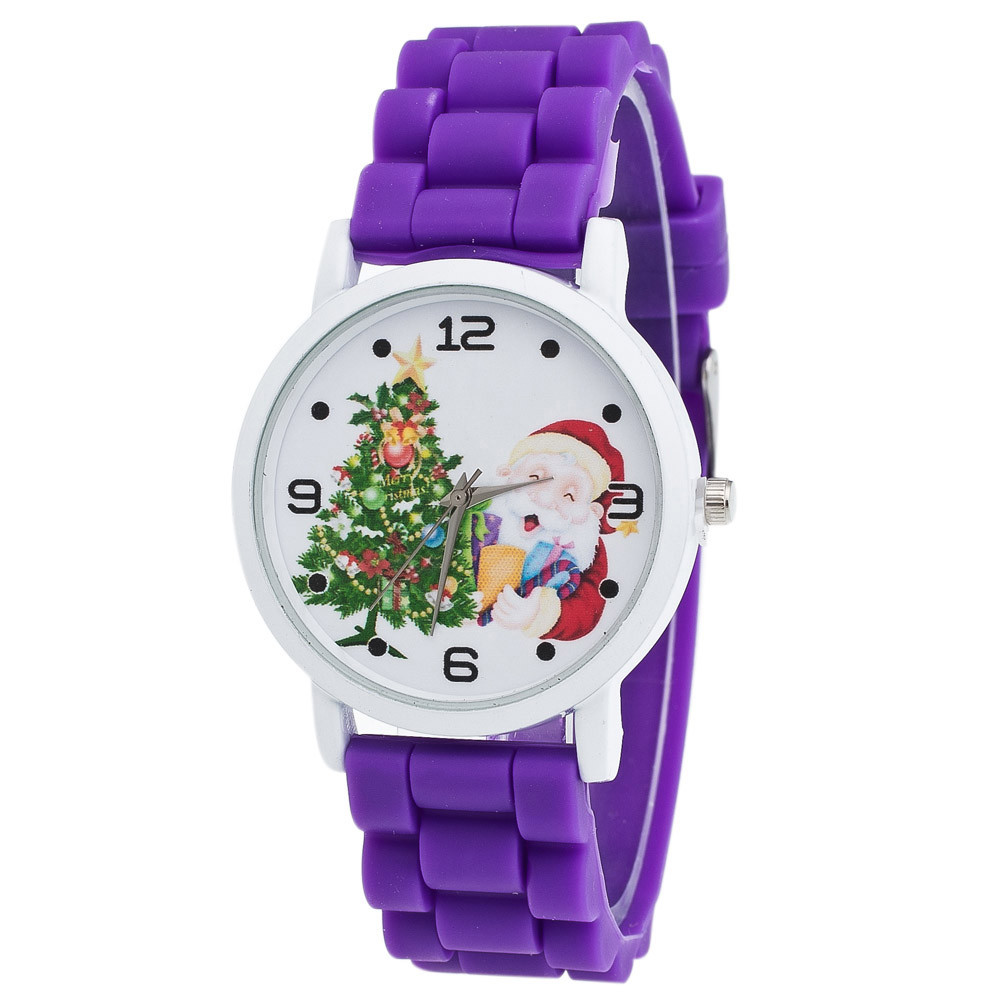 2017 Christmas Gifts Children Color Fashion Watch Silicone Strap Wrist Watch 2 Y794*