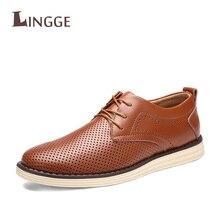 Осень-зима ручной работы из натуральной кожи повседневные мужские туфли модная дышащая обувь для вождения Обувь на плоской подошве на шнурках Оксфорд обувь для меня