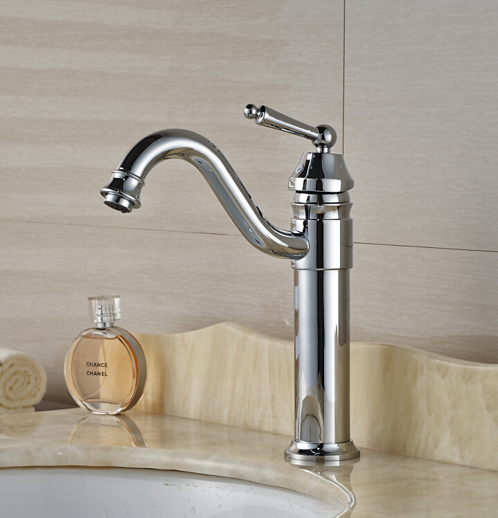 Free Shipping ! Chrome Finished Deck Mounted Bathroom Basin Faucet Mixer Tap 1 piece free shipping anodizing aluminium amplifiers black wall mounted distribution case 80x234x250mm