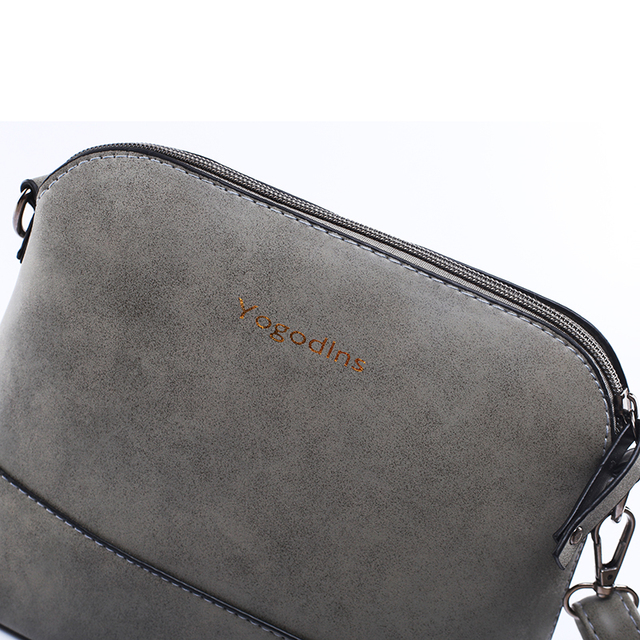 Yogodlns New fashion women's messenger bag scrub shell bag Nubuck Leather small bags over the shoulder women purses and handbags