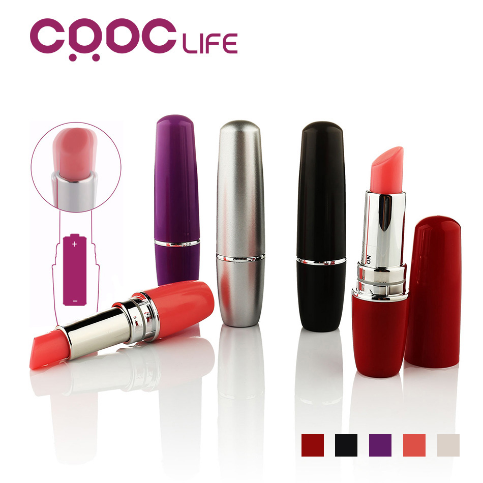 CRDC Lipstick Penis G-Spot Vibrator For Women, Clitoral Vagina Nipple Stimulator Massager Sex Product , Adult Sex Toys For Women