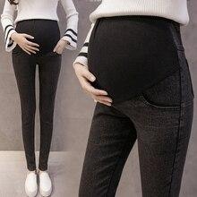 Черные джинсы для беременных, мягкие Стрейчевые джинсы для беременных женщин, весенние и летние штаны для беременных