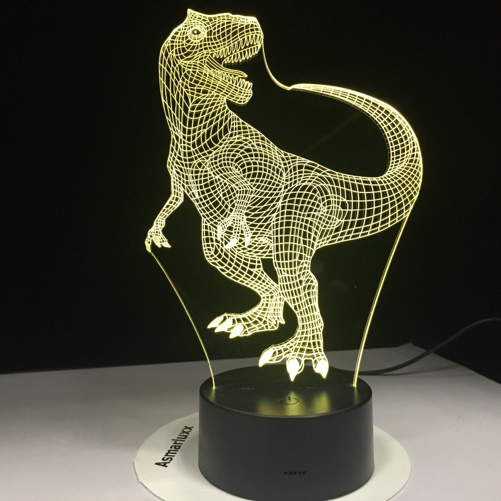 Tyrannosaurus Rex New Dinosaur 3D LED Night Lights With 7 Colors Light For Home Decoration Lamp Amazing Visualization Optical