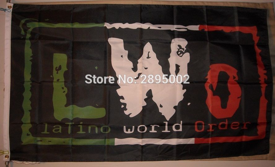 LWO Latino World Order Wrestling flag Polyester grommets 3 x 5 Banner metal holes Flag-free shipping