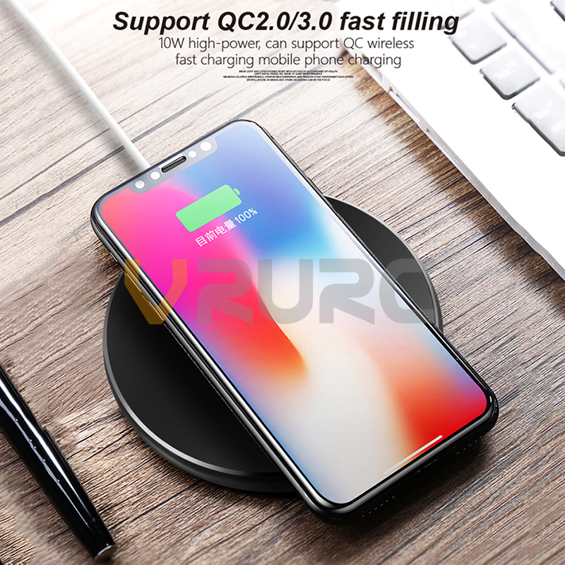 Qi Wireless charger USB Charge pad Fast Charging Phone Adapter For iphone X 8 Samsung S7 Edge S9 S8 note 8 For xiaomi 6x mix 2s
