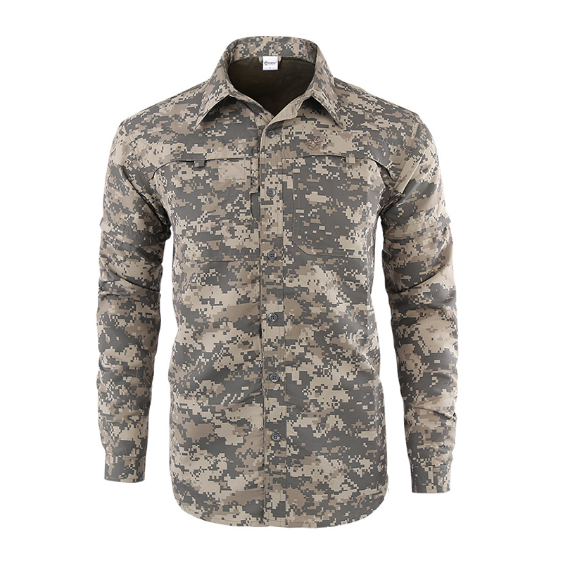 c6da98df522 ESDY Men Hiking Shirts Solider Tactical Camo Shirts Quick Drying Outdoor  Hiking Trekking Clothes Men Sunscreen