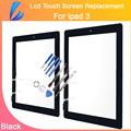 LL TRADER Glass Replacement Parts For iPad 3 4 Digitizer Touch Screen Tablet Panel Front Glass Panel+Button+Adhesive Sticker
