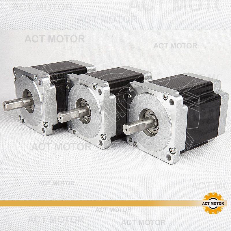 ACT Motor 3PCS Nema34 Stepper Motor 34HS9820 890oz-in 98mm 2A 8-Lead Single Shaft CE ISO ROHS CNC Plastic Machine Engraving