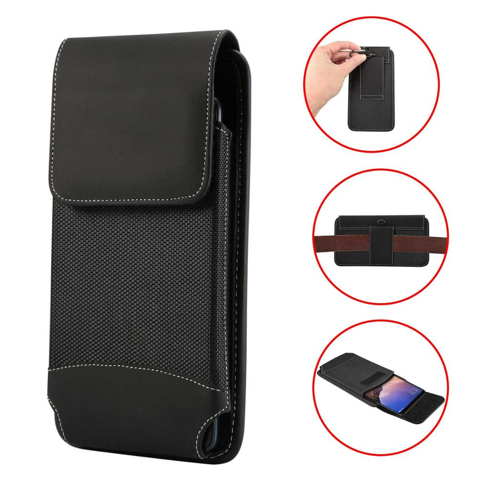 Durable Oxford Cloth Men's Mobile Phone Waist Bag For IPhone Xs Max XR X 8 7 6 6S Plus 7plus 8plus Phone Clip Holster Case Cover