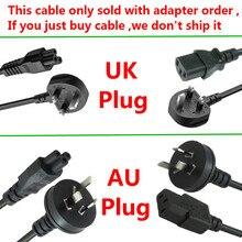 AC כבל חשמל עם בריטניה/AU PLUG עבור מתאם כוח מטען