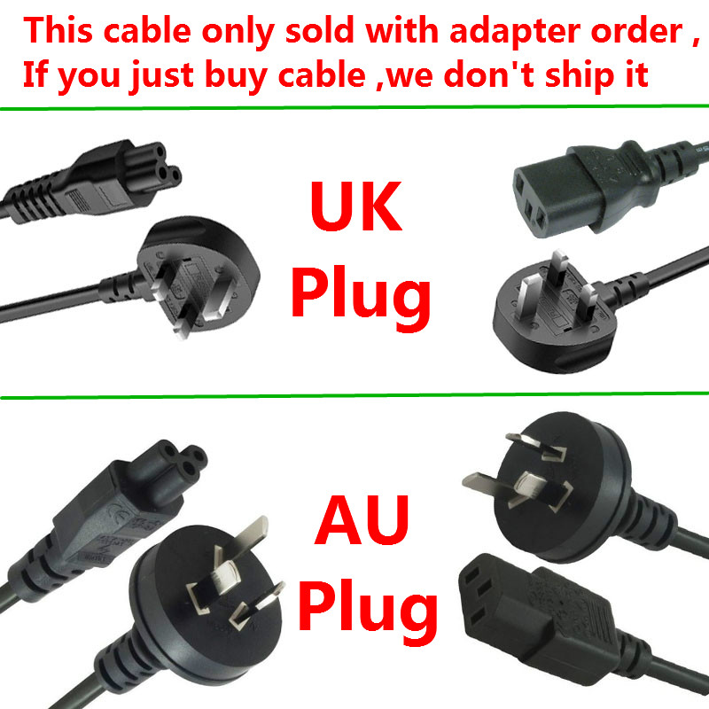 AC Power Cord with UK / AU PLUG For Adapter Power Charger-in Computer Cables & Connectors from Computer & Office