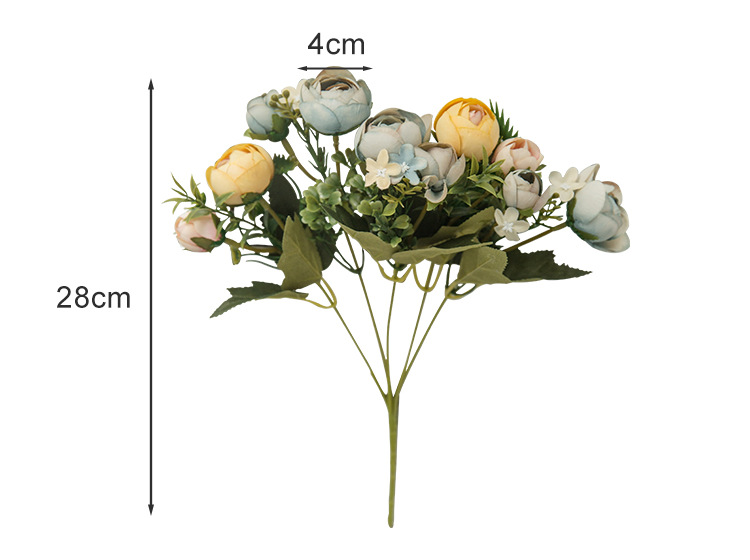 10 Heads Bouquet Rose Decor Artificial Flower Home Decor Imitation Fake Flower for Garden Plant Desk Decor Hand-Holding Flower (3)