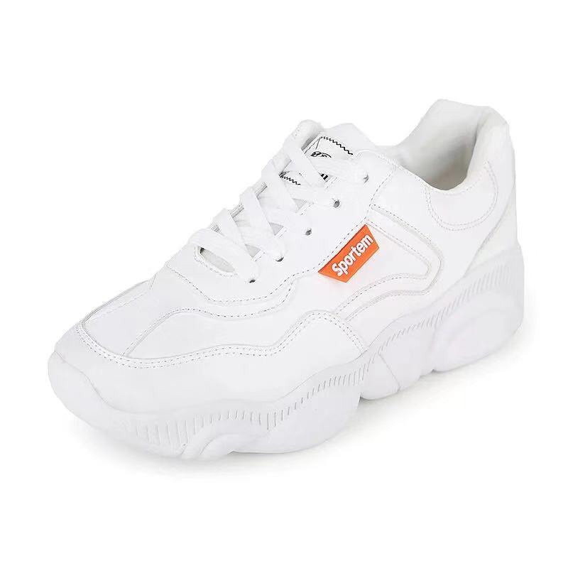 New Style Women 39 s sport shoes Bear shoes single thick Korean version of the wild low to help small white sneakers in Skateboarding from Sports amp Entertainment
