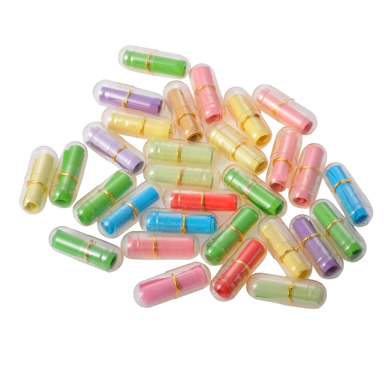 30-120Pcs/Pack PVC Message In A Bottle Capsule Letter Cute Love Pill Full Clear Mini Wish Bottle With Paper Scrip Storage 20x6mm