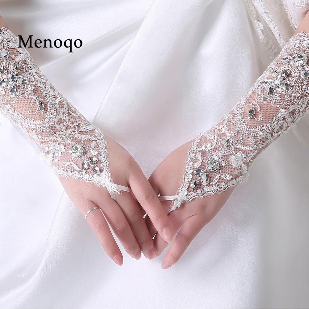 2018 Auf Lager Oper Handschuhe Braut Hochzeit Zubehör Fingerlose Perlen Hochzeit Handschuhe