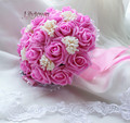 New Arrival Wedding Bouquet 20cm 30cm Rose Pink Brides Bouquet Simulation Flowers  Bridesmaid Bouquet  Hot Sale