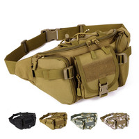 Running Sport Bag Camping Hiking Outdoor Pack Shoulder Bag Molle Military Tactical Waist Army Bag High
