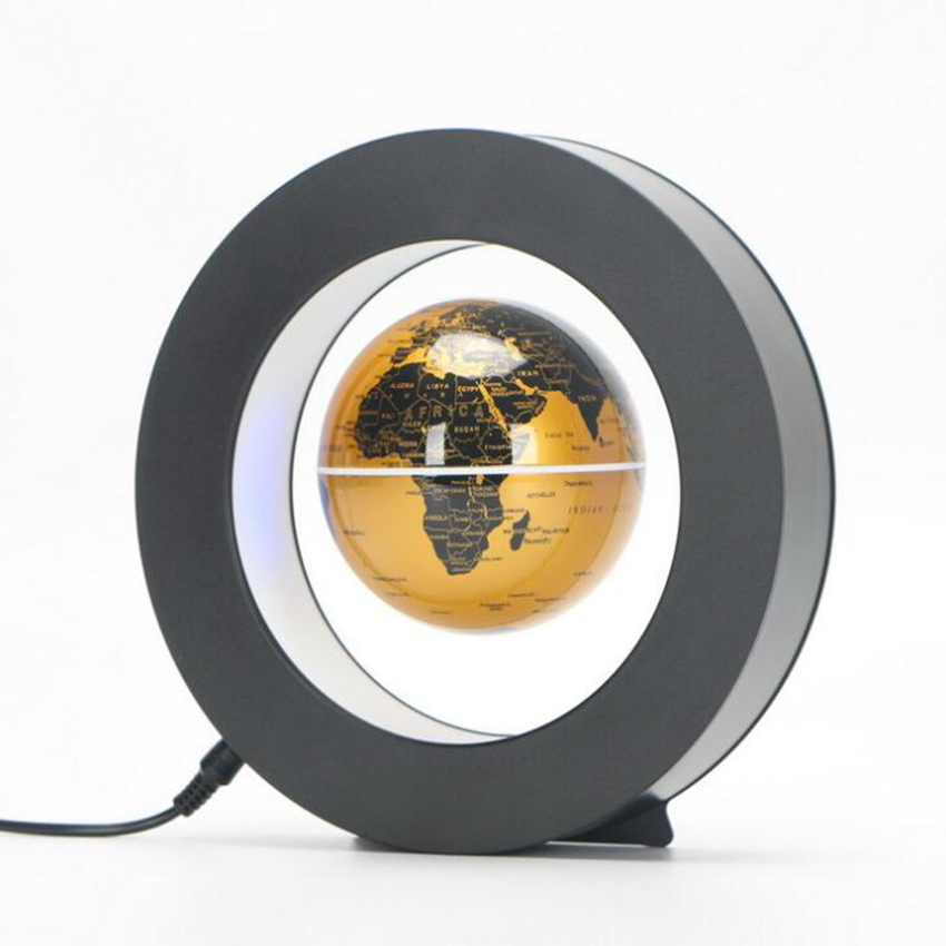 LED World Map Novelty Magnetic Levitation Floating Globe LED Floating Tellurion With LED Light Home Decoration Office Ornament