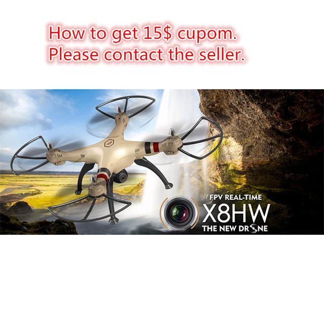 Syma X8HW dron RC drone con cámara wifi fpv 2.4G de 6 Ejes Drones con cámara profesional hd Gran Quadcopter Helicóptero VS MJX X101