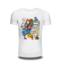 Vintage, nostalgic classic Video Game characters t-shirt