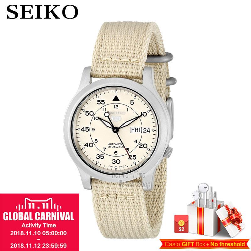 SEIKO Watch No. 5 Automatic Fashion simple mechanical watch SNK379K1 SNK807K2 SNK809K1 SNK809K2 SNK385K1 SNK803K2 SNK805K2 цена и фото