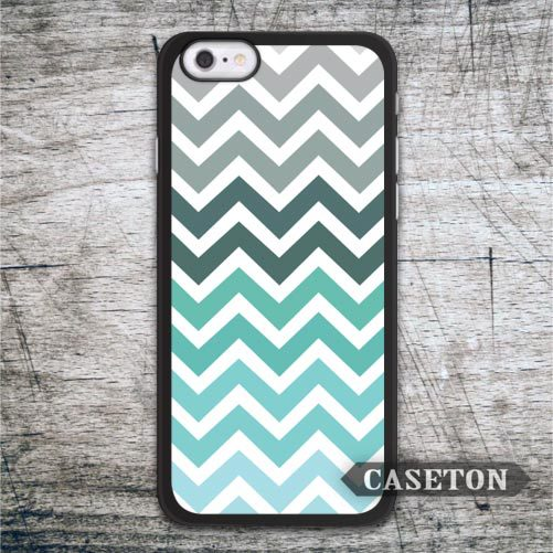 Mint Gray Chevron Case For iPhone 7 6 6s Plus 5 5s SE 5c and For iPod 5 High Quality Classic Lovely Ultra Phone Cases