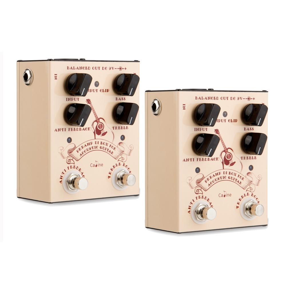 2PCS Caline CP-40 DI Box For Acoustic Guitars Effect Pedal Guitar Accessories Pedal Effect Box For Acoustic Guitars CP40 2PCS yuker 2pcs electric guitars roller string trees retainer alloy accessories parts kits