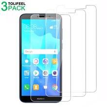 3 sztuk szkło hartowane dla Huawei Y5 2018 ochraniacz ekranu 2.5D 9 H folia ochronna dla Huawei Y5 Prime 2018 na szkle