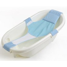 Newest Adjustable Bath Infant Seats Bathing Bathtub Seat Baby Bath Net Safety Security Seat Support Infant Shower Baby Care(China)