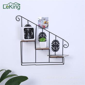 Fer Art fleur étagère de rangement Style européen décor à la maison suspendus Rack maison et salon étagère de rangement pour chambre d'enfants