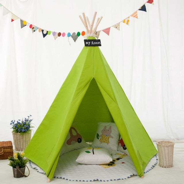 Love Tree Children Indian Teepee- Hexagon Green Color No Window Style -kid Play teepee  sc 1 st  AliExpress.com & Love Tree Children Indian Teepee Hexagon Green Color No Window ...