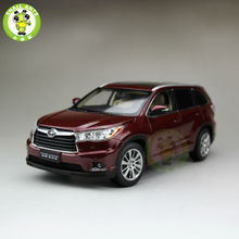 1:18 Toyota Highlander 2015 Diecast SUV Car Model Red Color